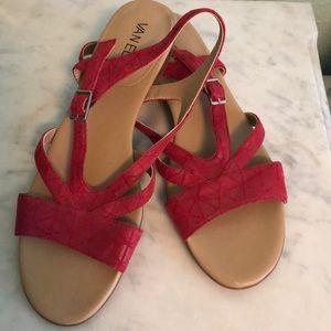 Red Vaneli sandals